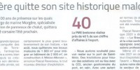 Morgère quitte son site historique malouin