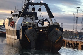 Renowned Exocet trawl doors from Morgère at Skipper Expo Int. Aberdeen